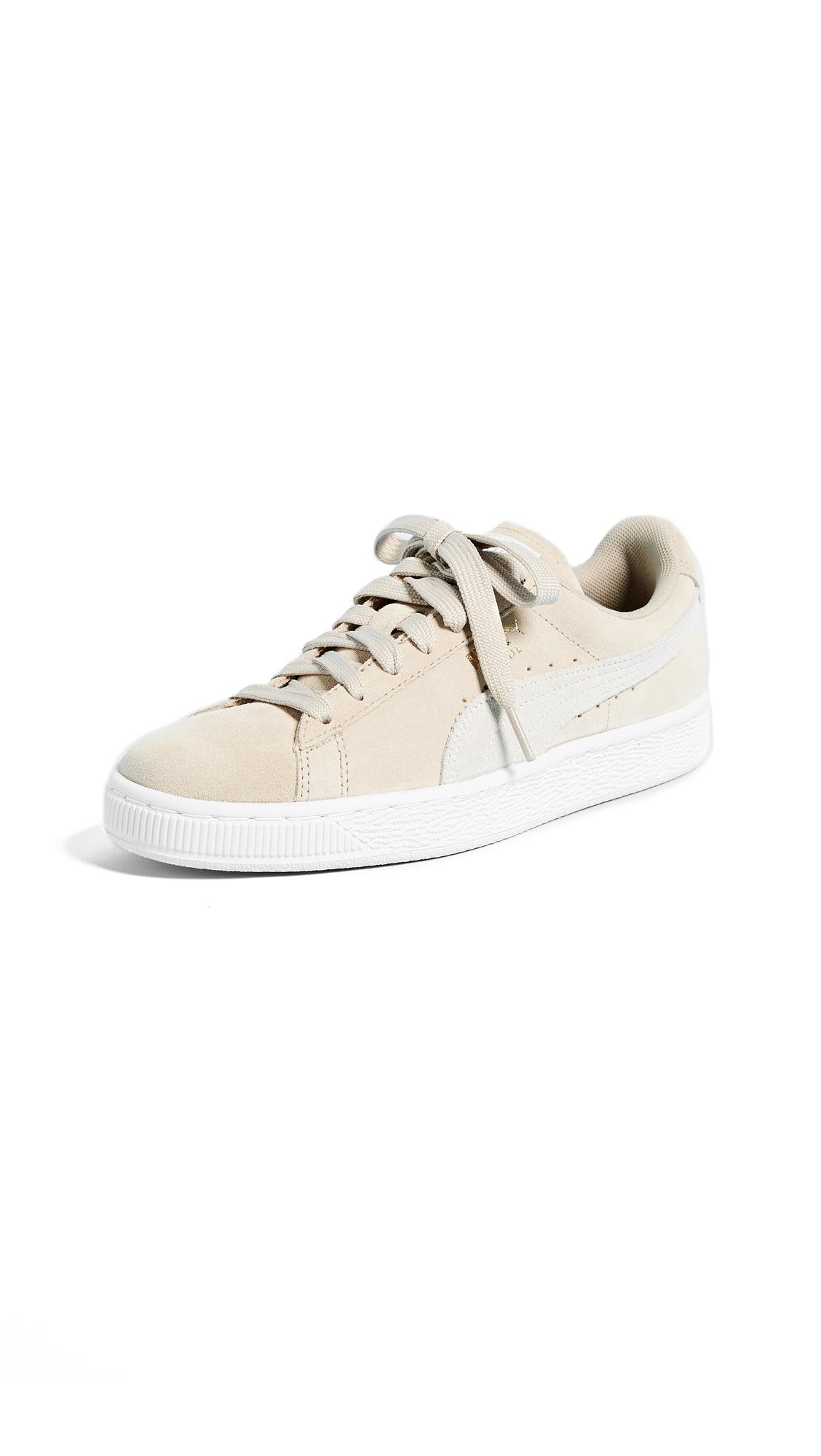 PUMA Suede Classic Sneakers - Safari/Puma White