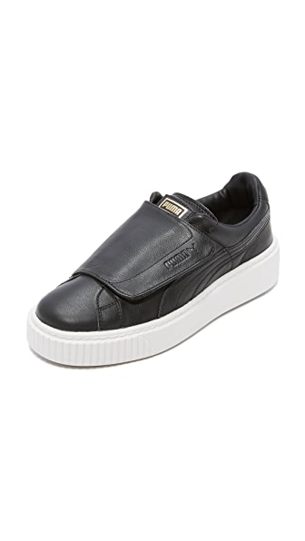 PUMA Basket Platform Bigvelc Sneakers - Black