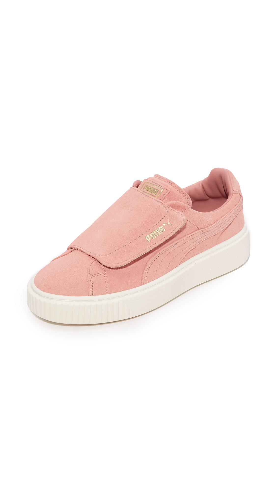 PUMA Basket Platform Bigvelc Sneakers - Pink