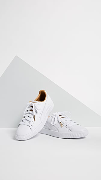 PUMA Clyde Core Leather Sneakers - White