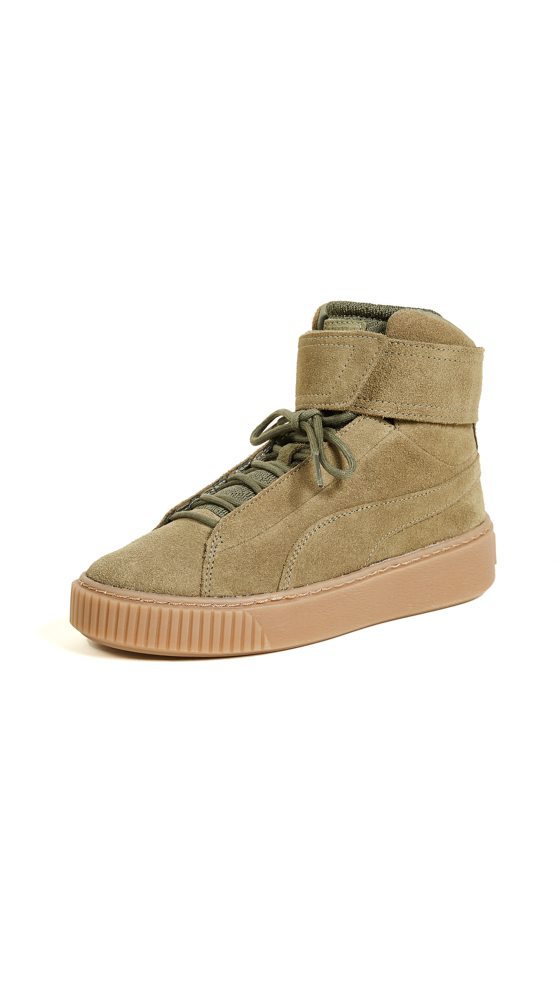 PUMA Platform Mid OW Sneakers - Olive Night/Olive Night