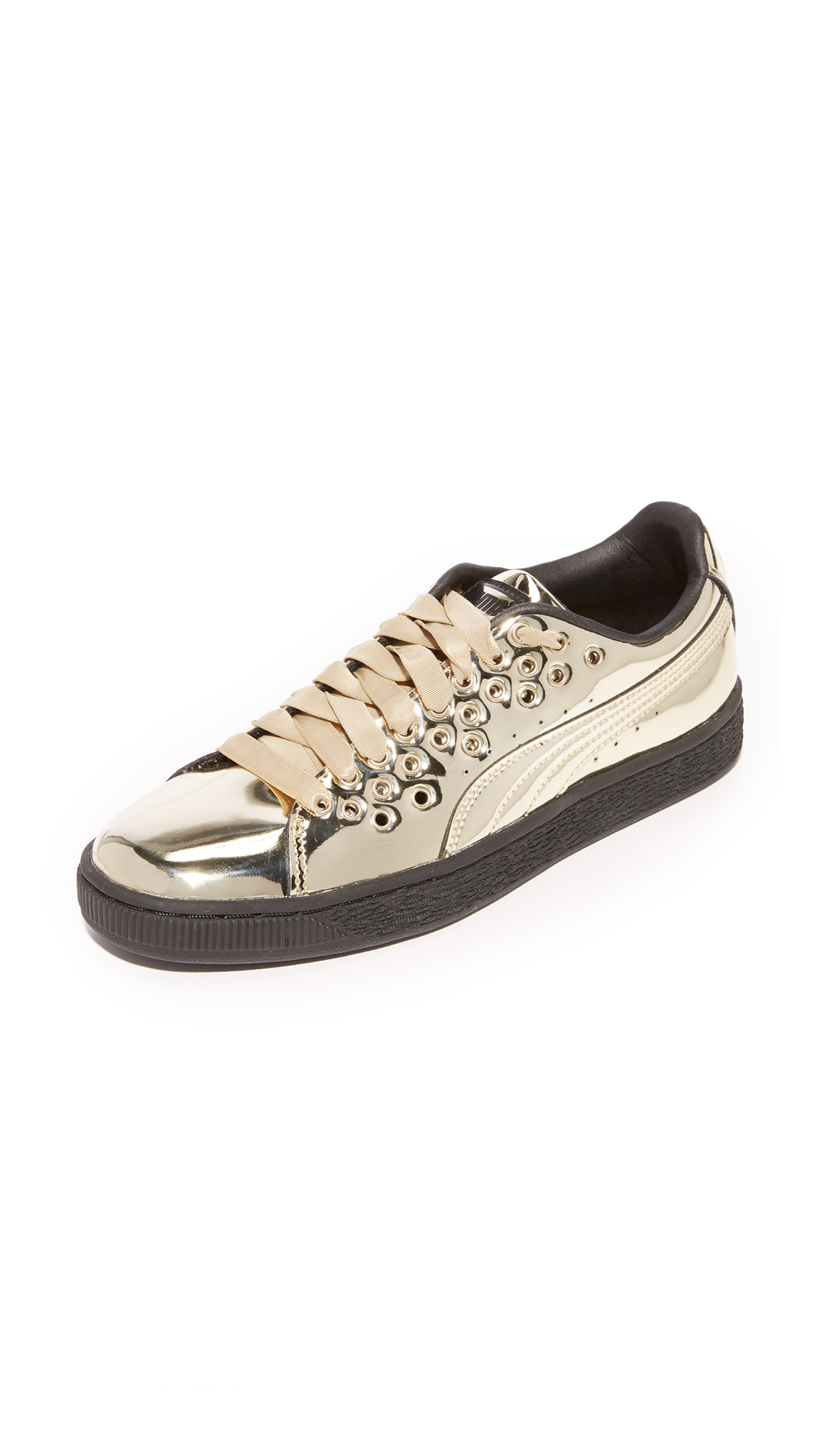PUMA Basket XL Lace Select Sneakers - Gold/Gold