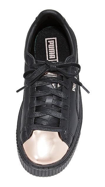PUMA Basket Platform Metallic Sneakers