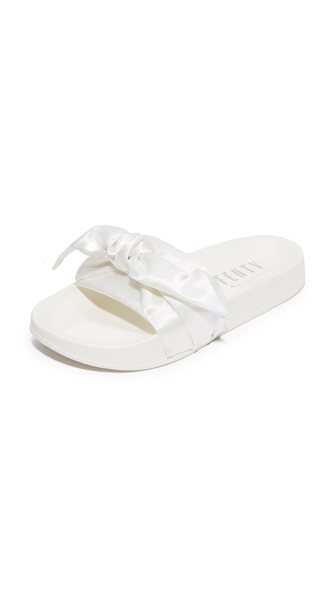 PUMA FENTY x PUMA Bow Slides - Marshmallow/Puma Silver