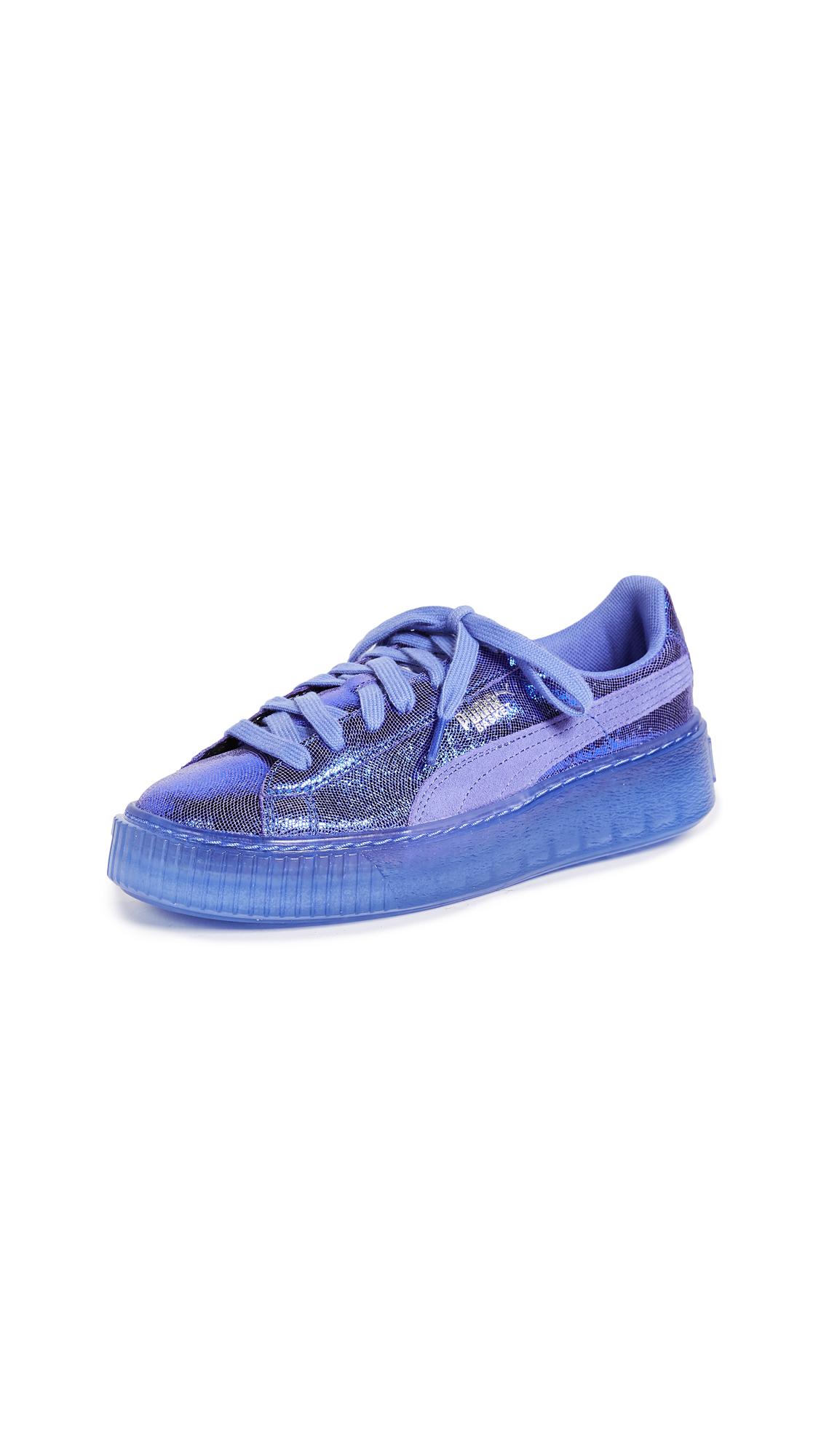 PUMA Basket Platform Sneakers - Baja Blue/Baja Blue
