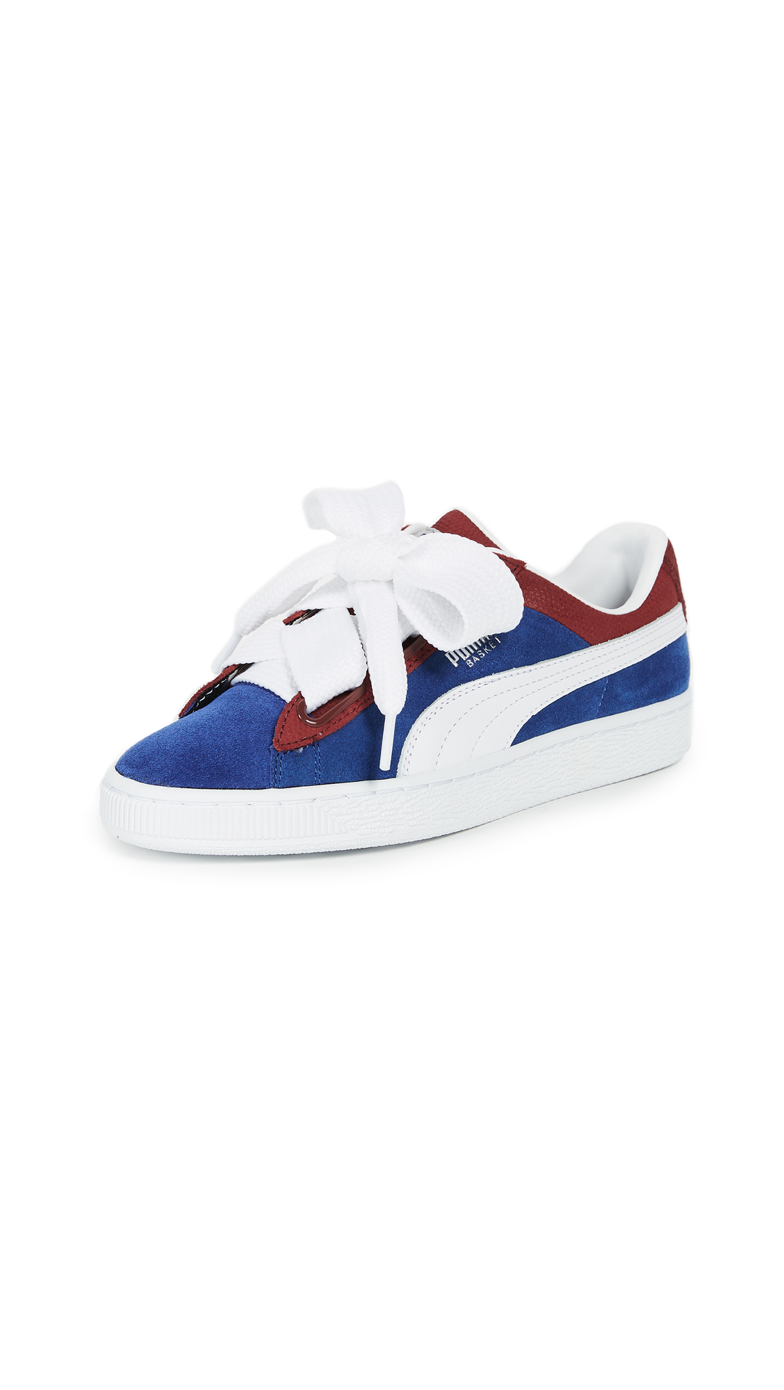 PUMA Basket Heart Colorblock Sneakers - True Blue/Cabaret