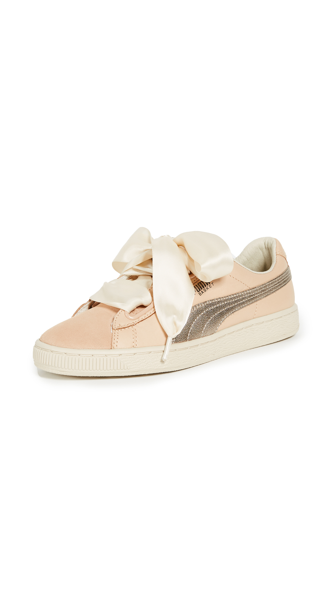 PUMA Basket Heart Up Sneakers - Natural Vachetta