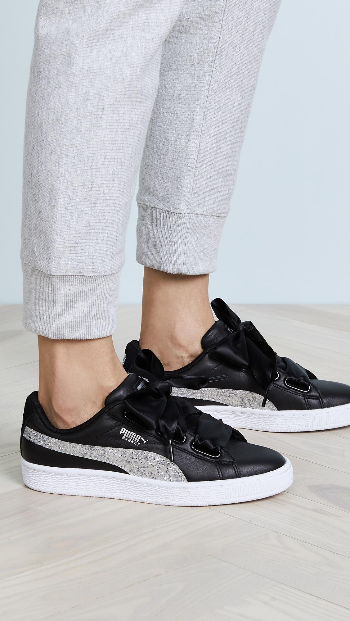 921f93dbe7e9 PUMA Basket Heart Glitter Sneakers | SHOPBOP