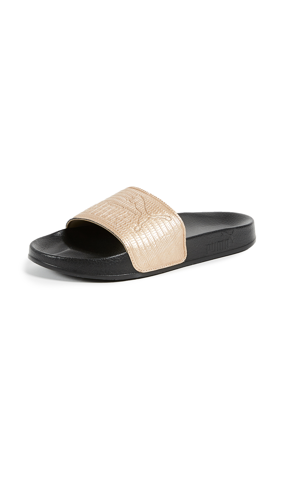 PUMA Leadcat Slides - Gold/Puma Black