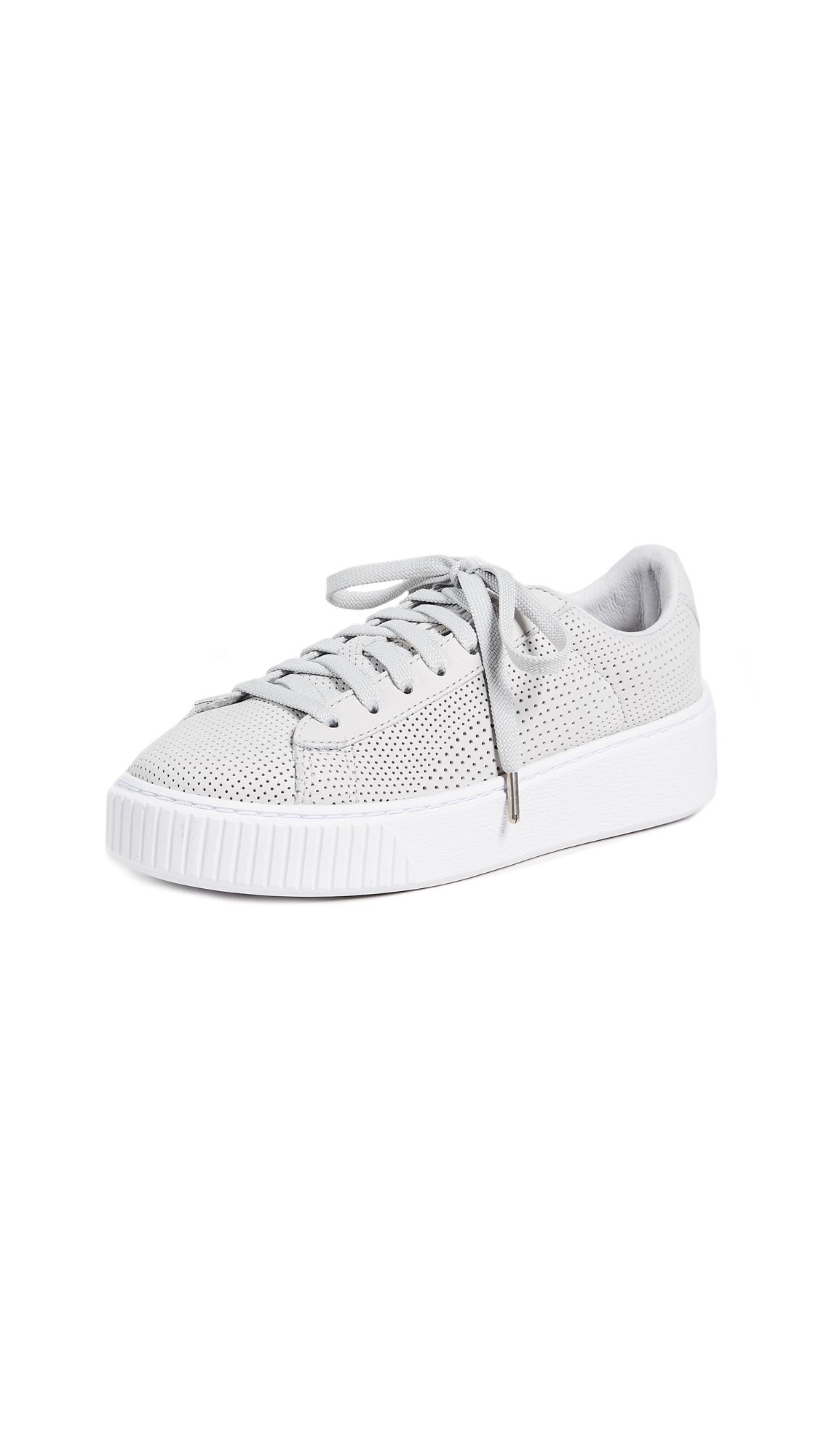 PUMA Basket Platform Perforated Sneakers