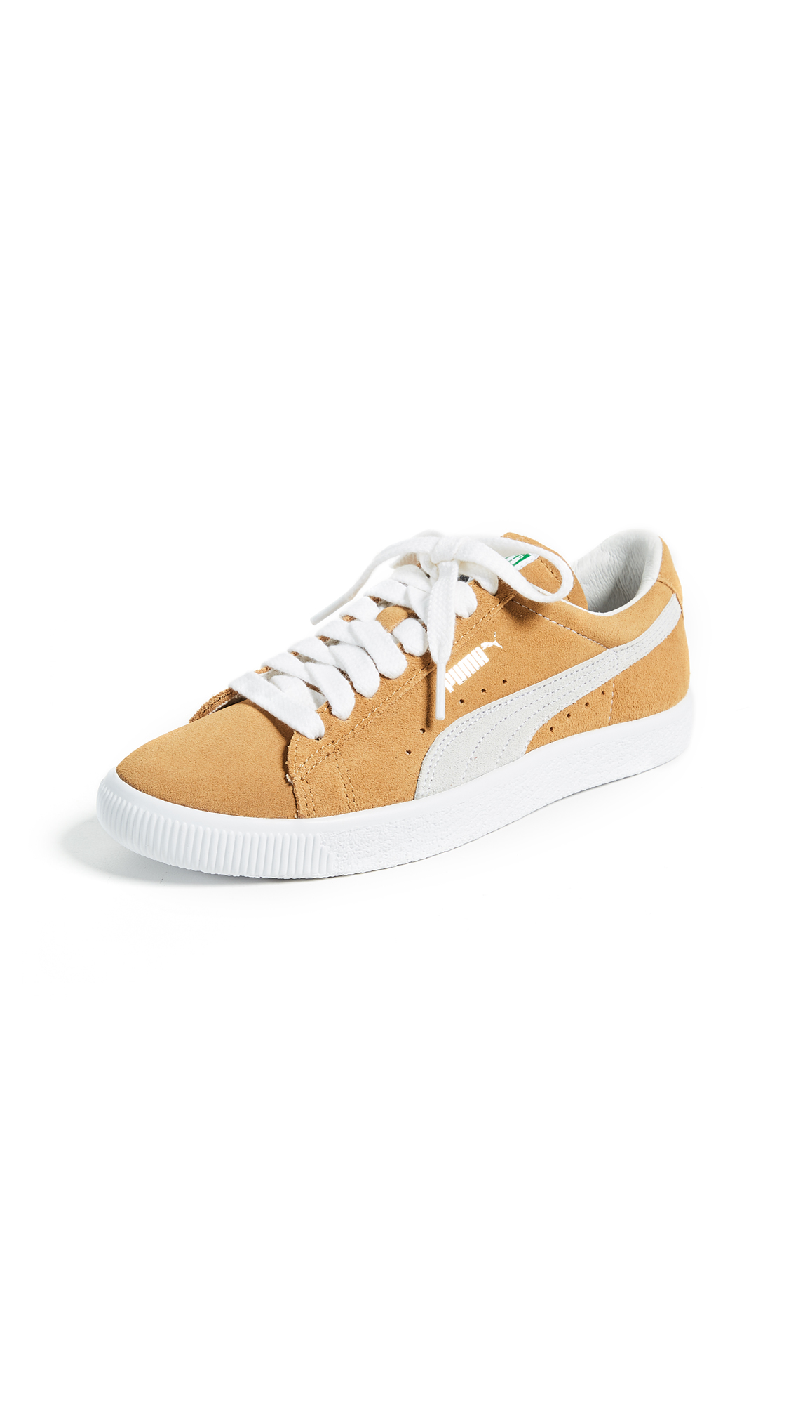 PUMA Suede 90681 Sneakers - Honey Mustard/Puma White