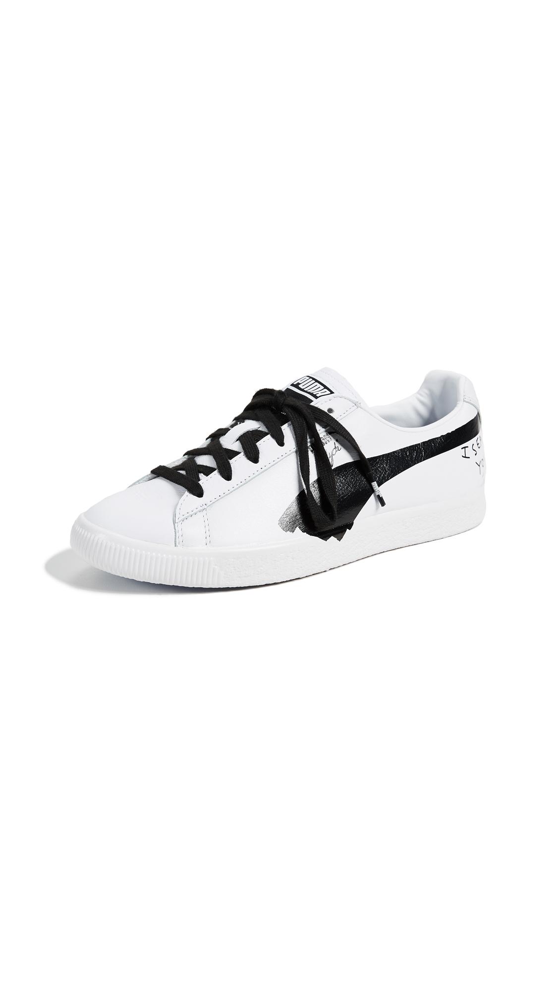 e41822a39981a X Shantell Martin Clyde Sneakers, Puma White/Puma Black