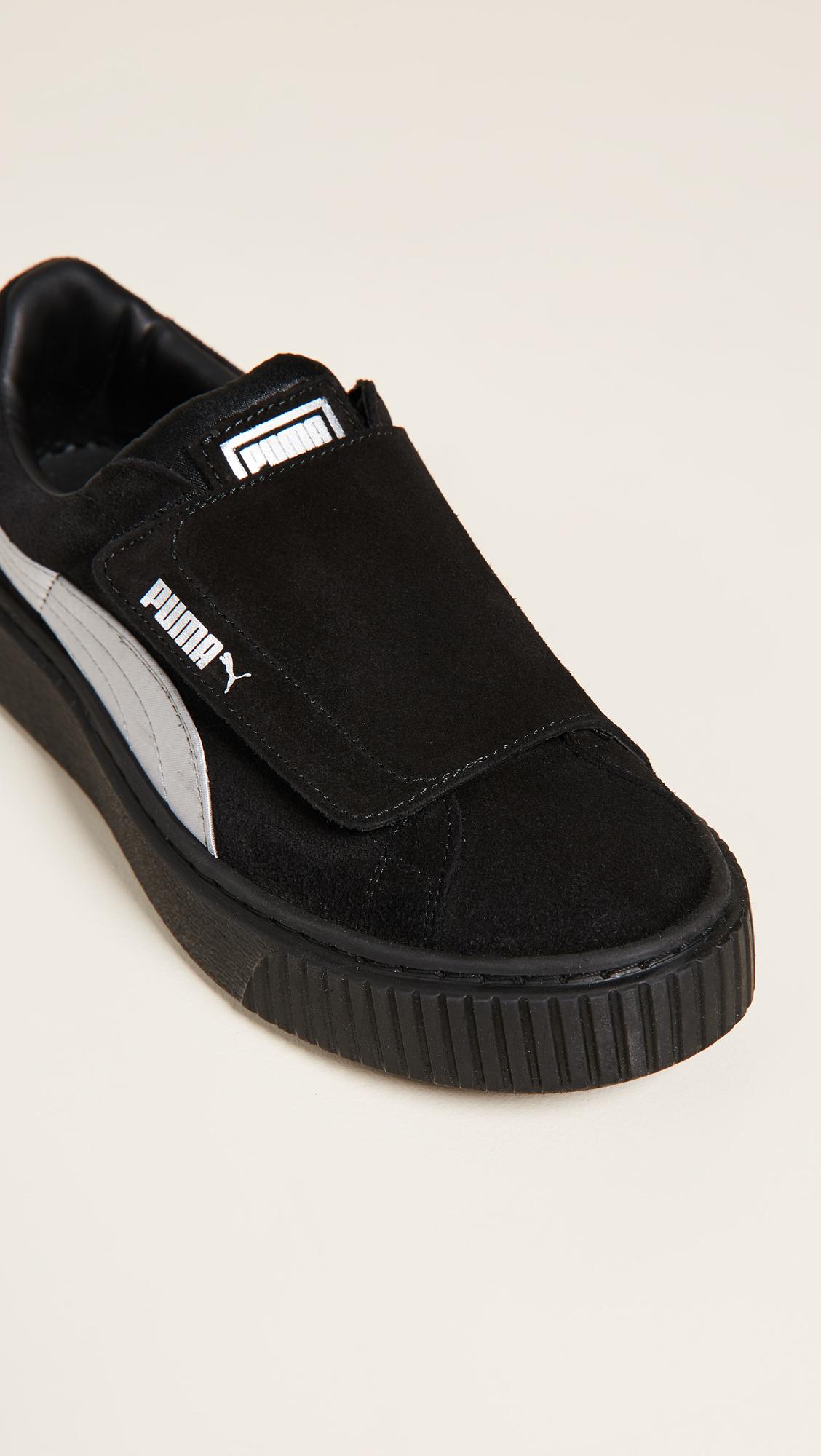 fbfdba8387a9 PUMA Platform Strap Satin EP Sneakers