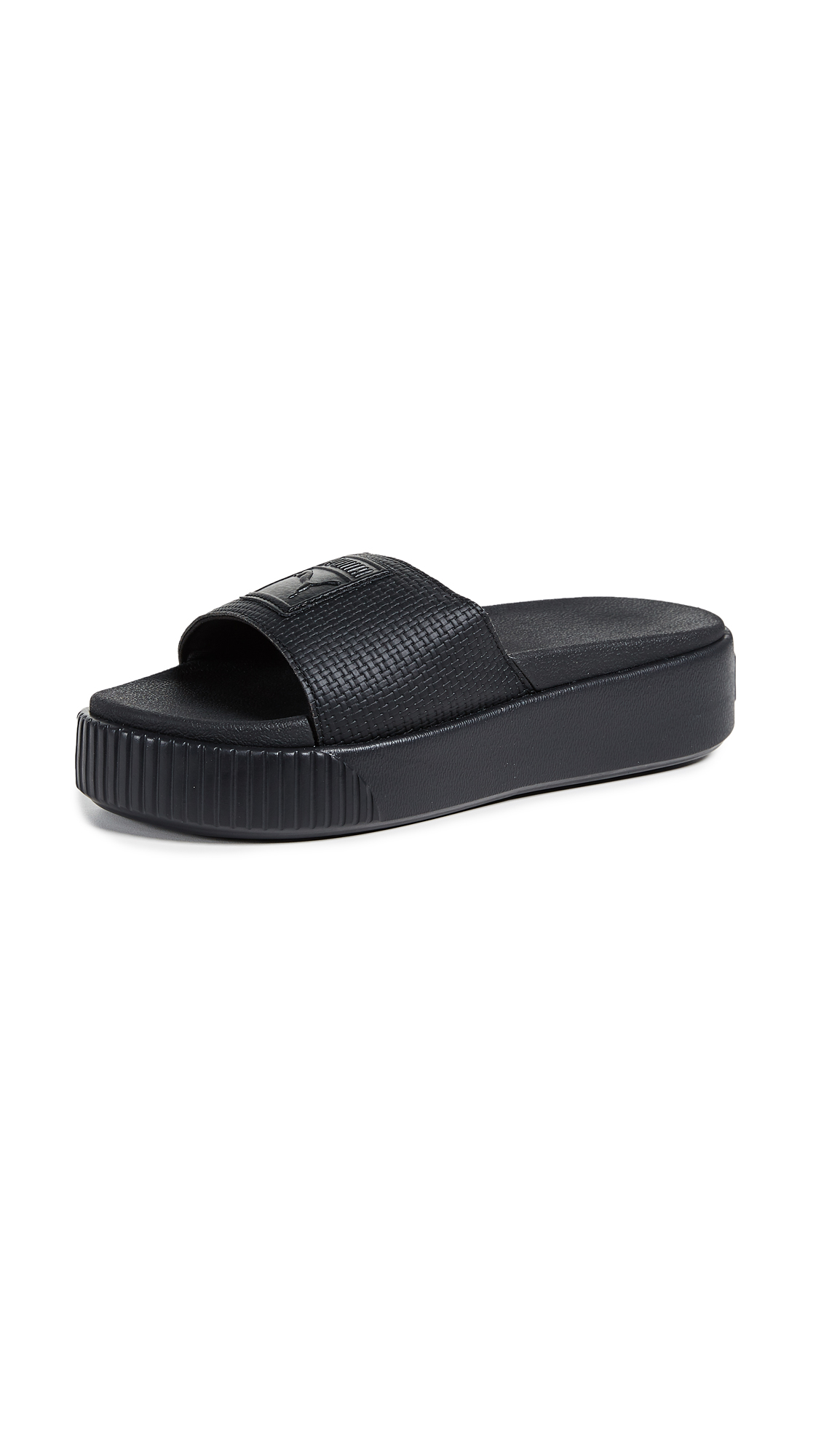 Platform Bold Slides, Puma Black/Puma Black