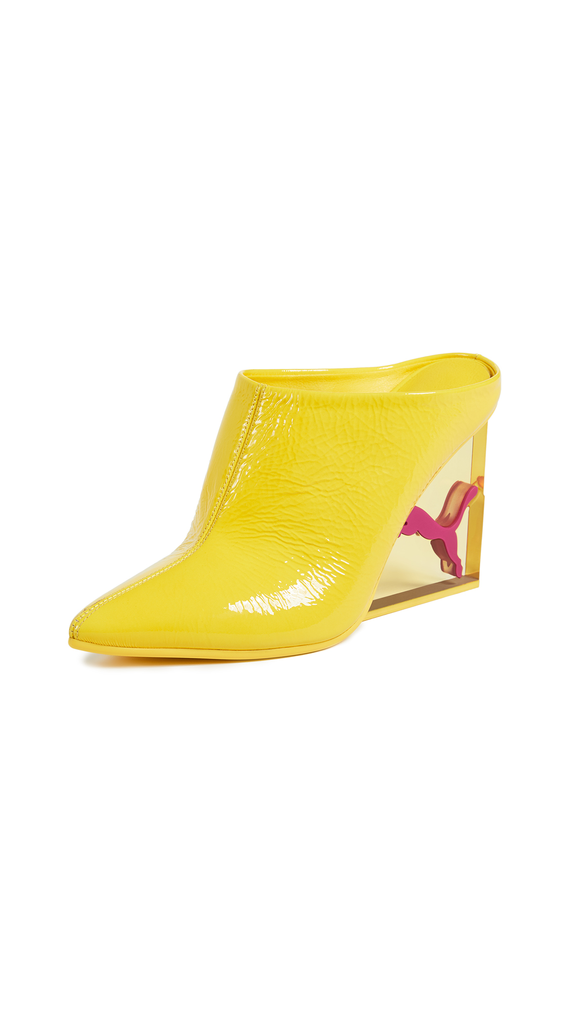 PUMA x FENTY Cat Wedge Mules - Blazing Yellow