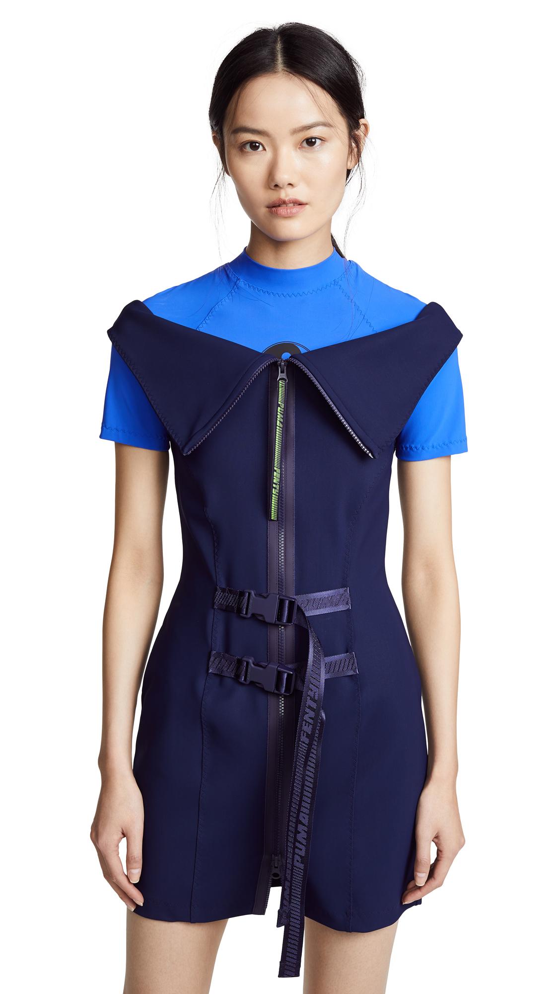 PUMA FENTY x PUMA Wetsuit Dress In Evening Blue