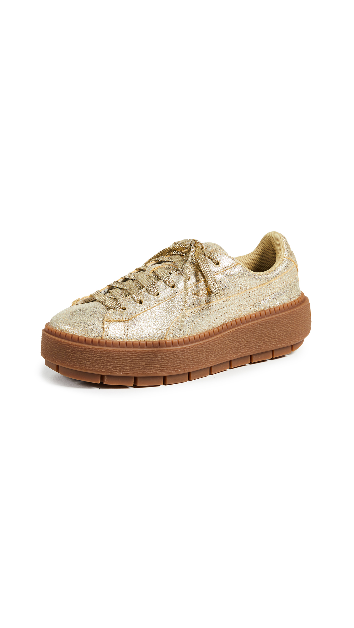 PUMA Basket Platform Trace Sneakers - Metallic Gold