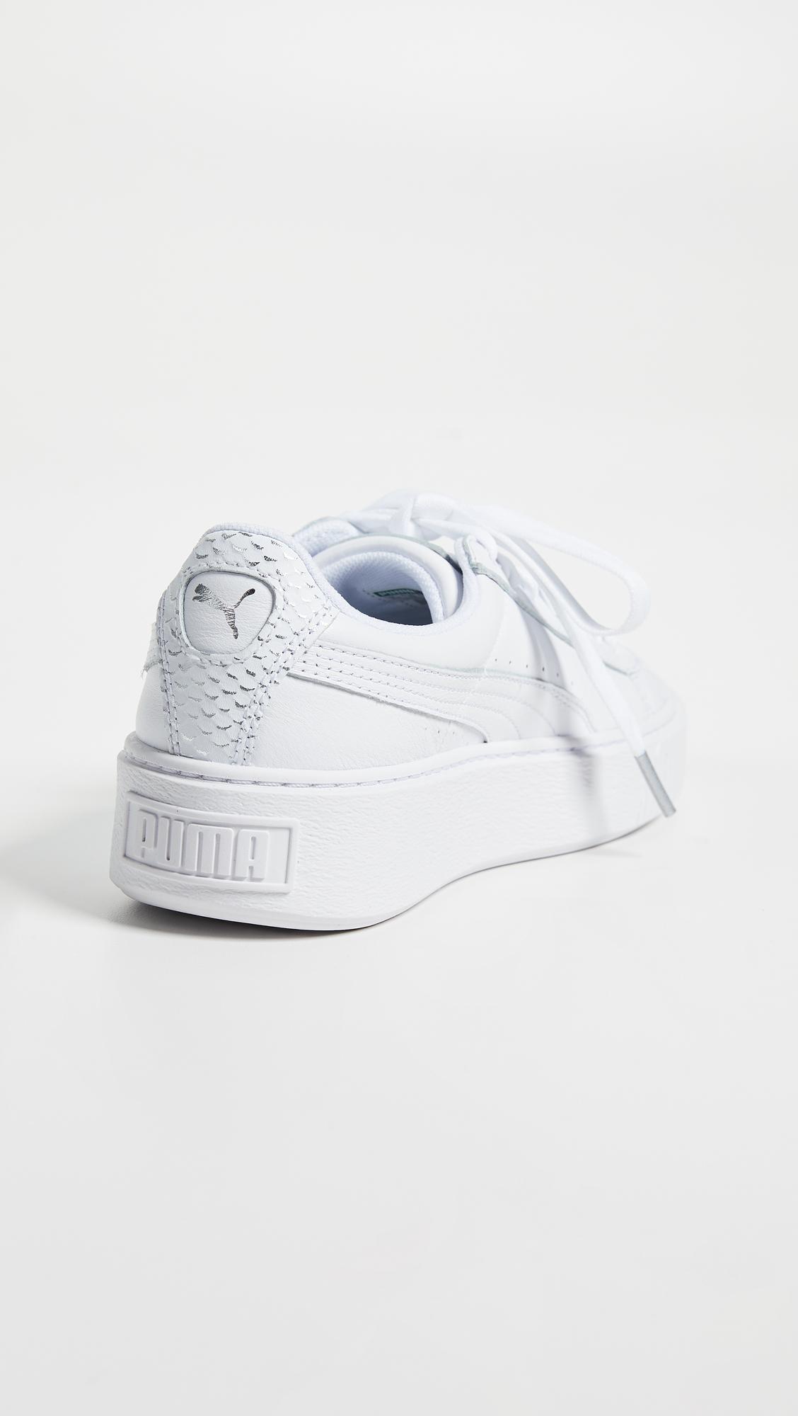 puma basket platform ocean sneakers