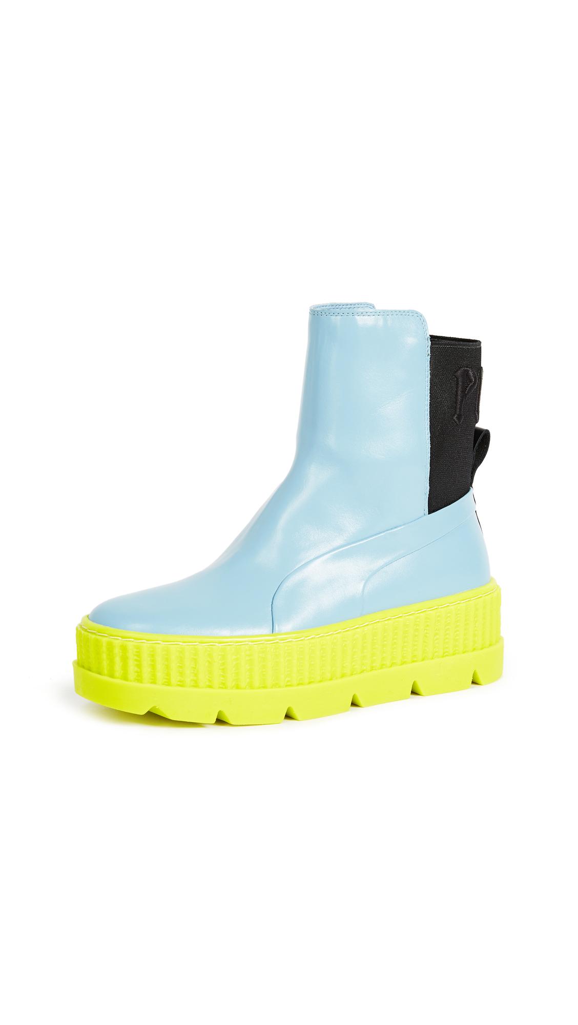 PUMA FENTY x PUMA Chelsea Sneaker Boots - Sterling Blue/Black/Limeade