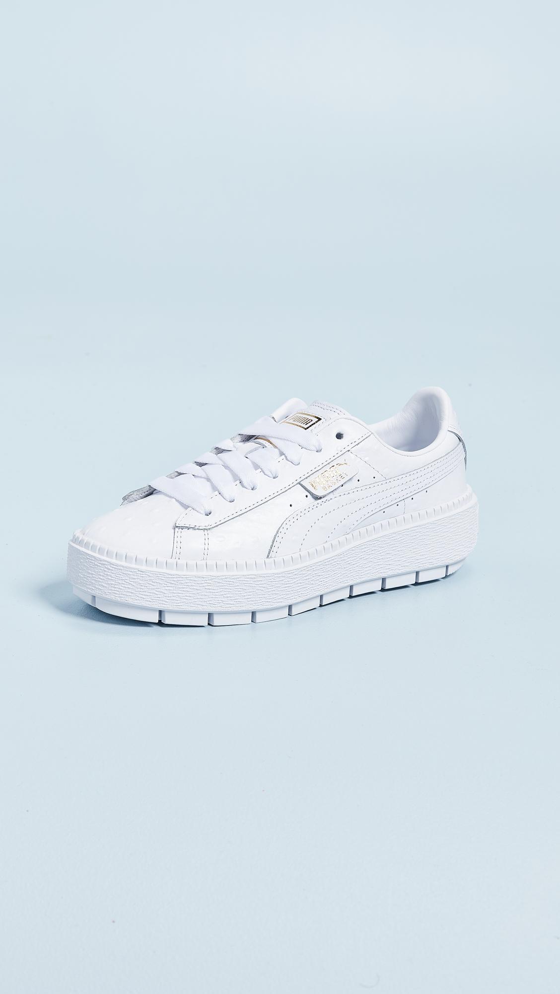 hot sale online 3e143 d02bb PUMA Platform Trace Ostrich Sneakers | SHOPBOP