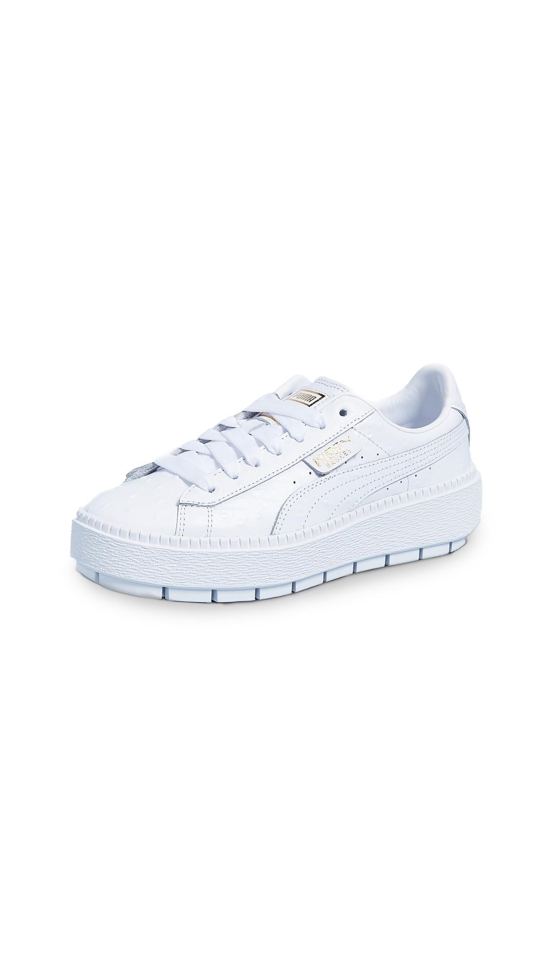 PUMA Platform Trace Ostrich Sneakers - Puma White