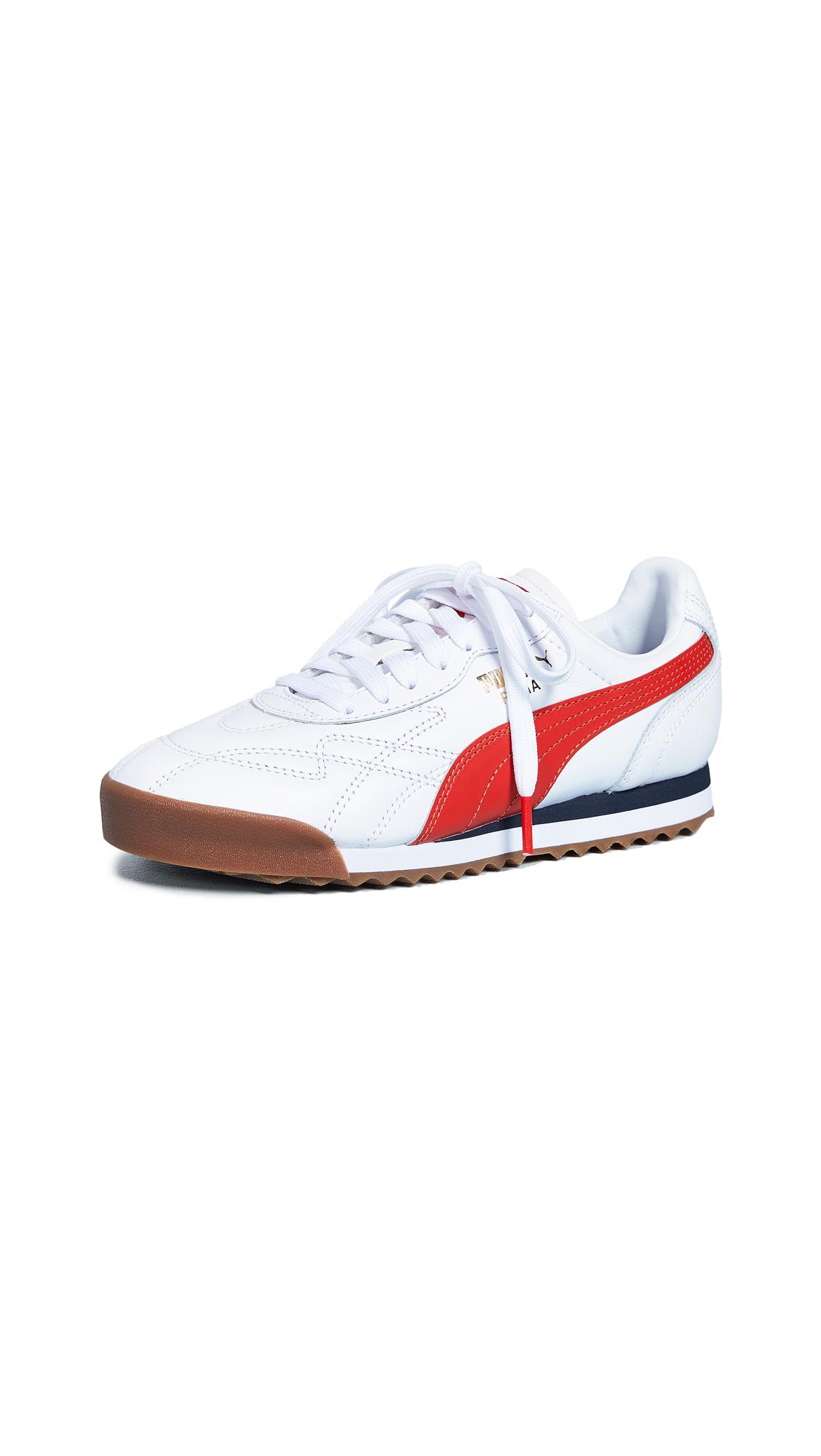 PUMA Roma Anniversario Sneakers - Puma White/Puma Red