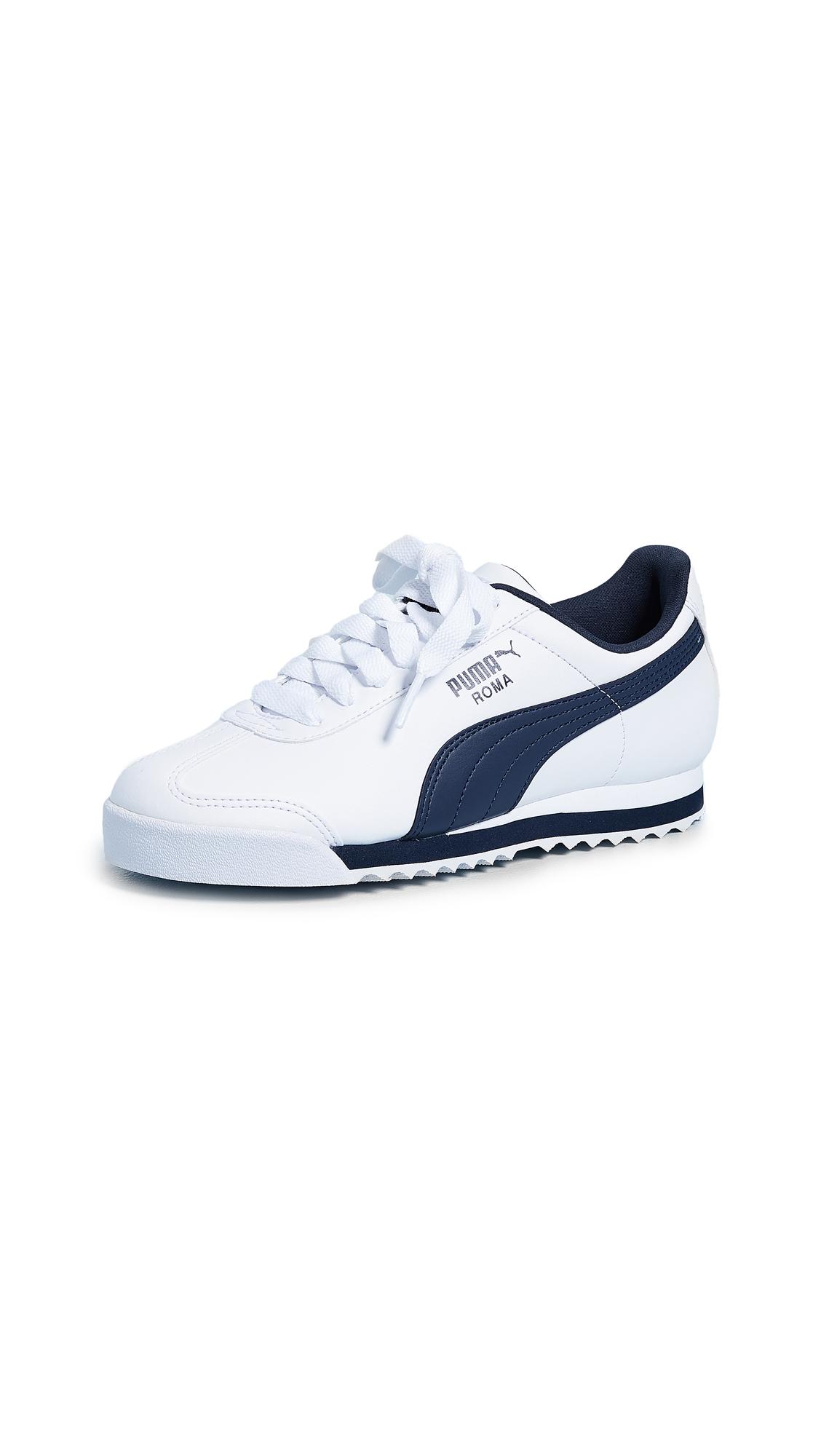 PUMA Roma Basic Sneakers - White/New Navy