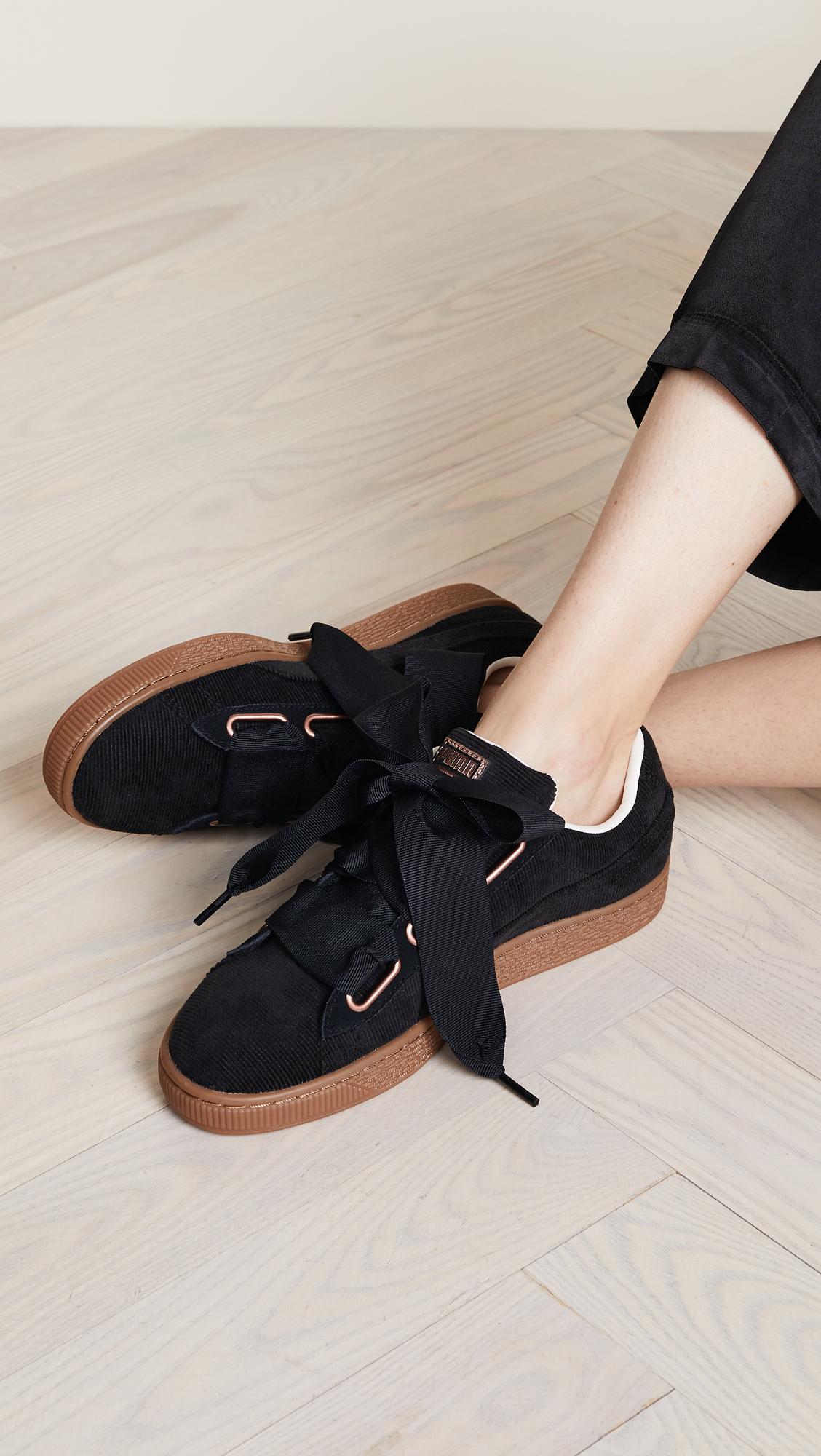 41bb86798a80 PUMA Basket Heart Corduroy Sneakers