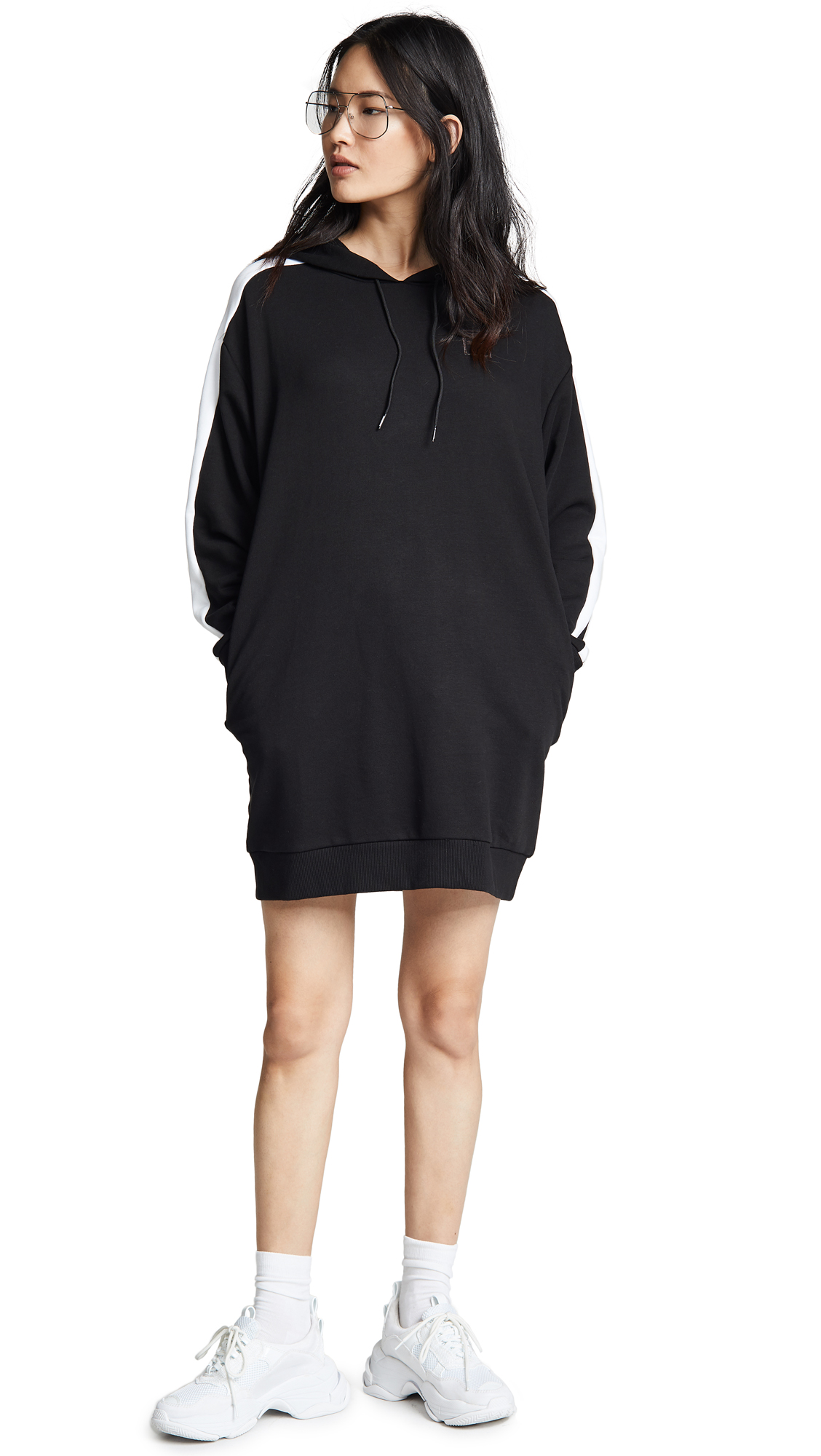 CHAINS T7 HOODED DRESS