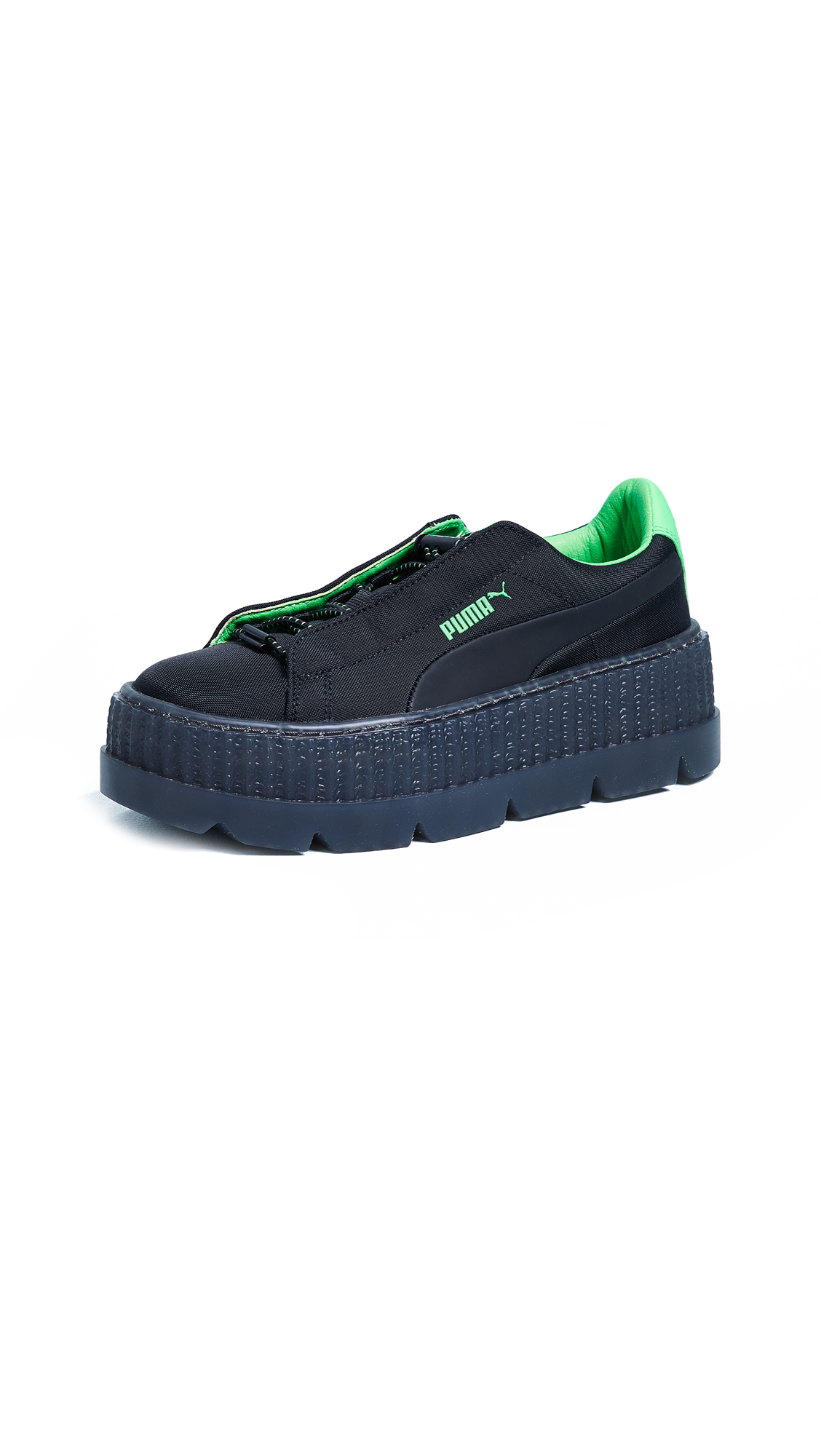 PUMA FENTY x PUMA Surf Creeper Sneakers - Puma Black/Green Gecko/Black