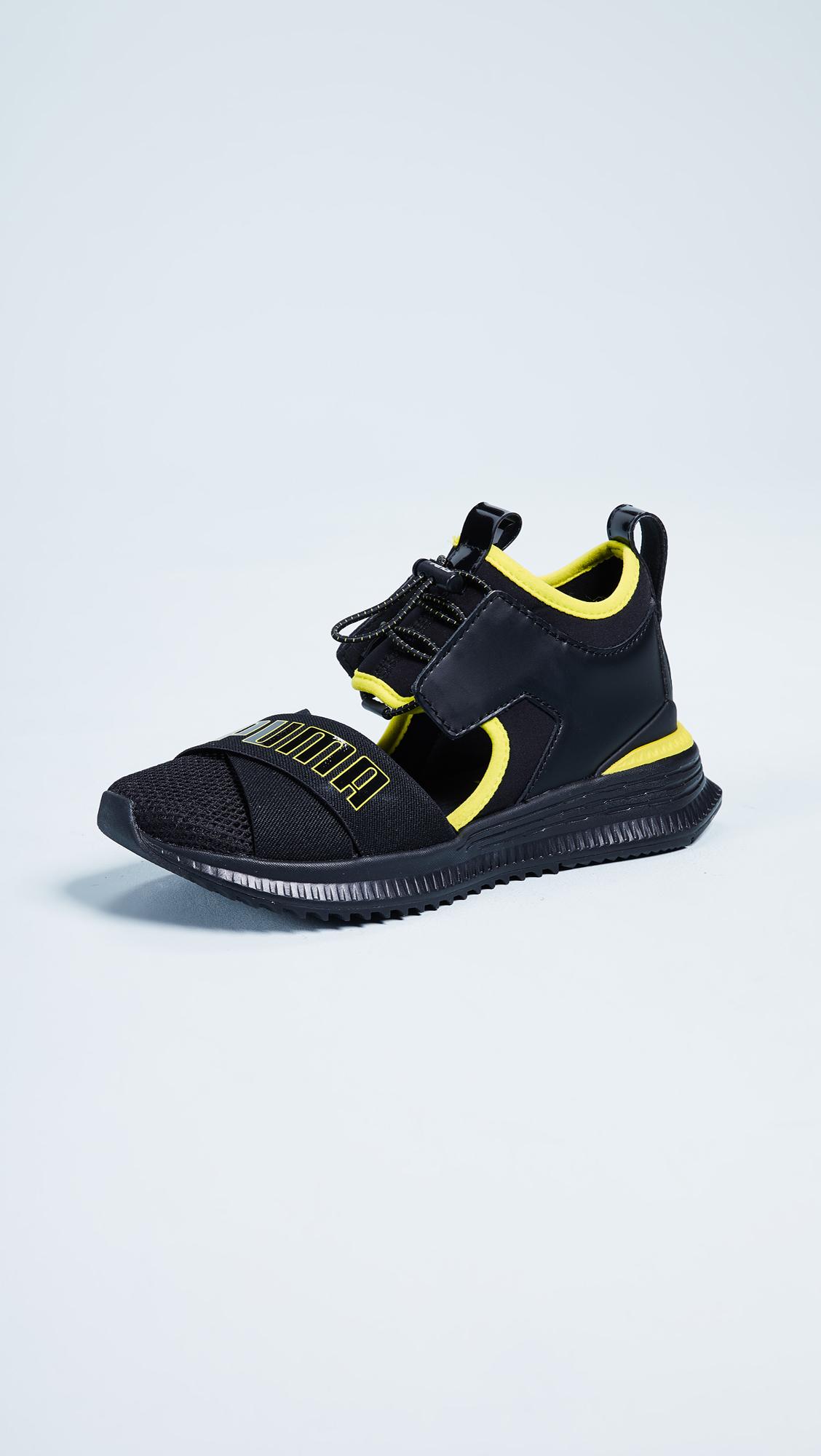 PUMA x FENTY Avid Sneakers - Puma Black/Limepunch/Black