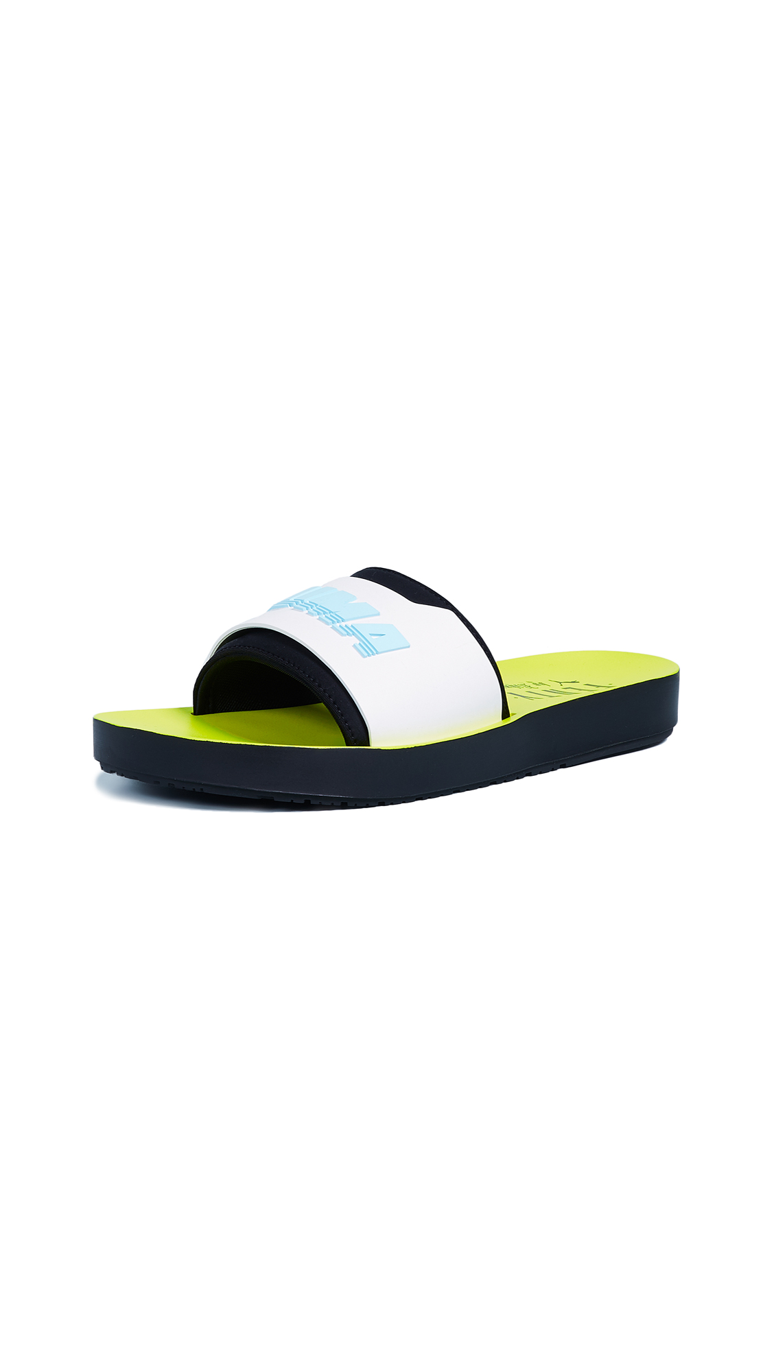 PUMA FENTY x PUMA Surf Slides - Black/White/Safety Yellow