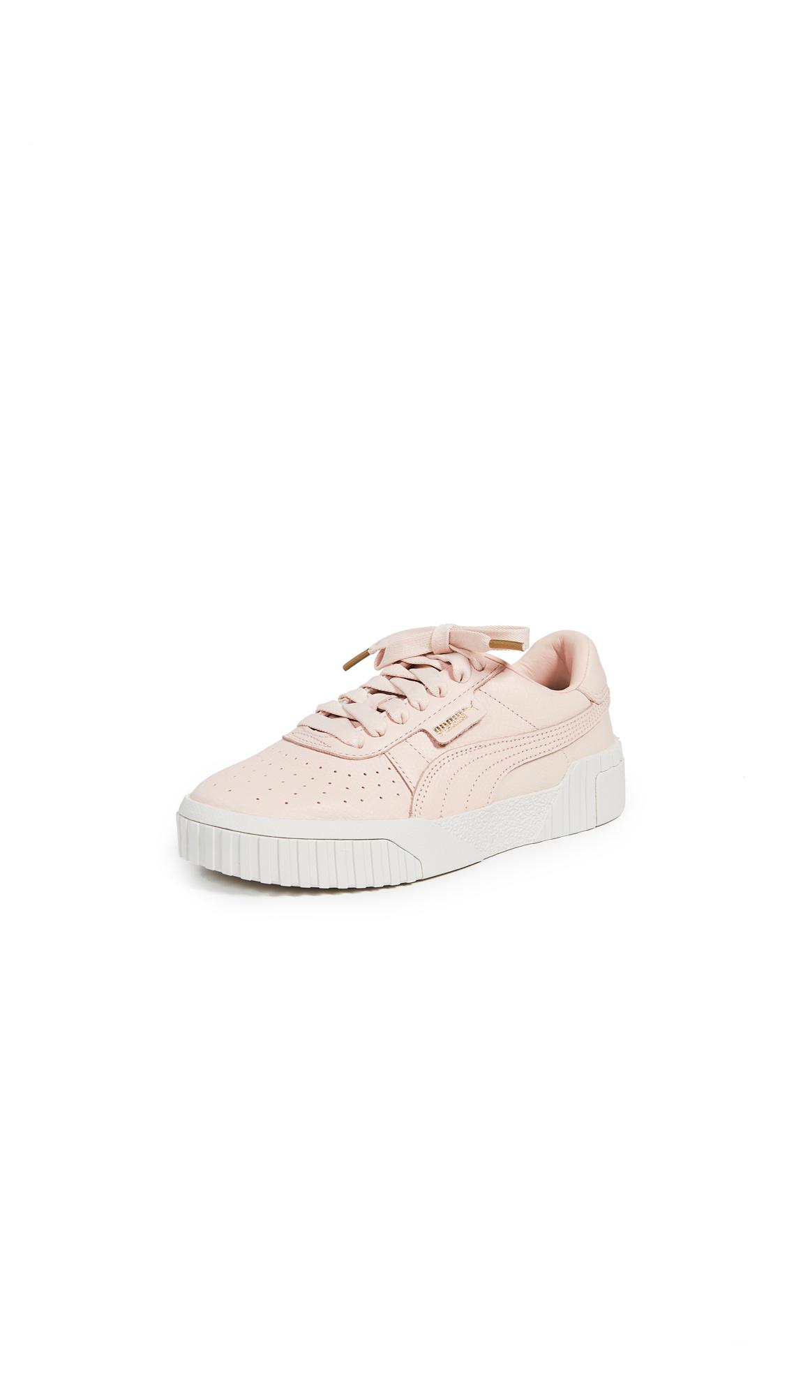 PUMA Cali Emboss Sneakers - Cream Tan/Cream Tan