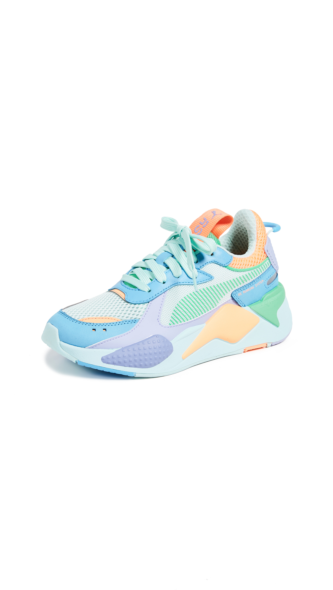 PUMA RS-X Colorblock Sneakers - Green/Blue/Orange/Purple