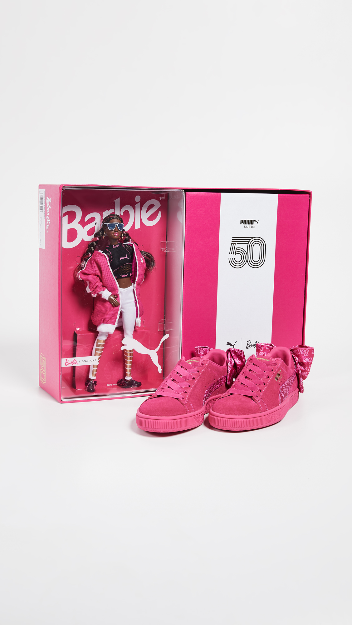 b4920a9942c PUMA Suede Classic Sneakers with Barbie Doll