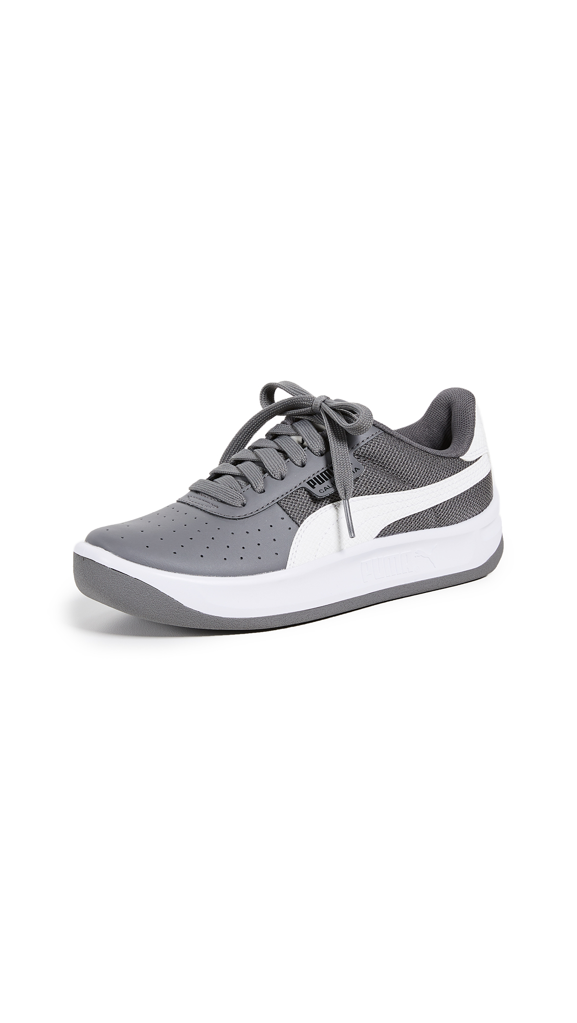 PUMA California Scratch Sneakers - Smoked Pearl/White/Black