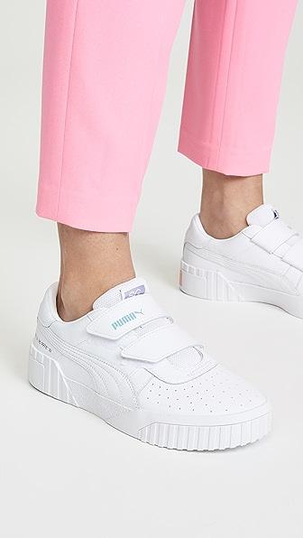 Shop Puma Cali Velco X Selena Gomez Sneakers In White White