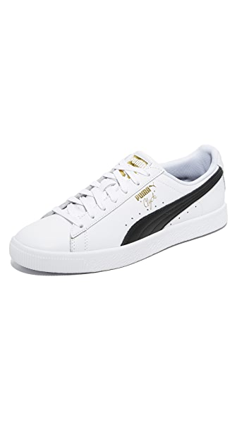 PUMA Select Black and White Clyde Sneakers