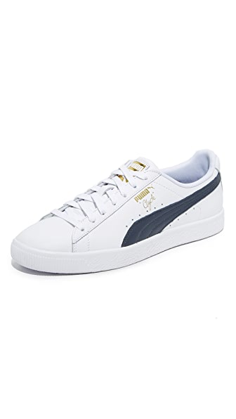 PUMA Select White and Blue Clyde Sneakers