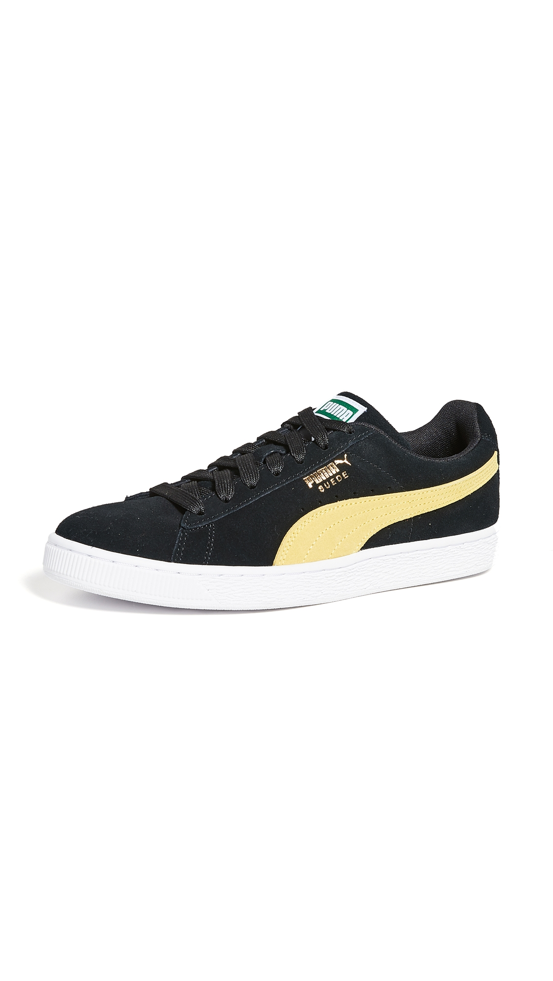 346a1df0903 Puma Suede Classic Sneakers In Black/Yellow | ModeSens