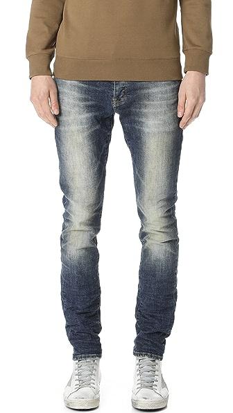 Purple Denim Slim Fit Denim Jeans