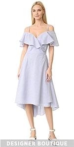 pushBUTTON Striped Dress