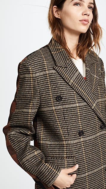 pushBUTTON Check Plaid Coat