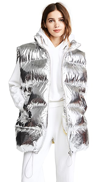 pushBUTTON Metallic Puffer Vest