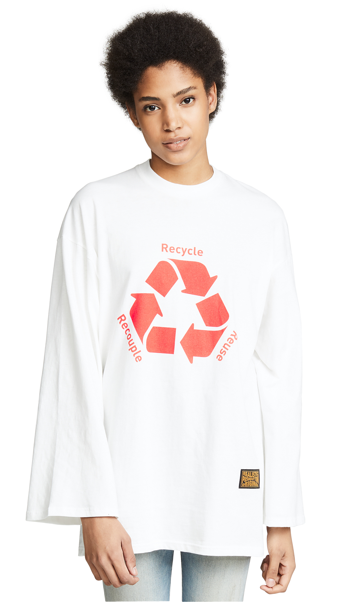 pushBUTTON Recycle Tee In White