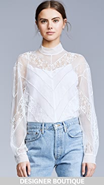 eefc01eaaa2169 pushBUTTON. Lace Turtleneck Top