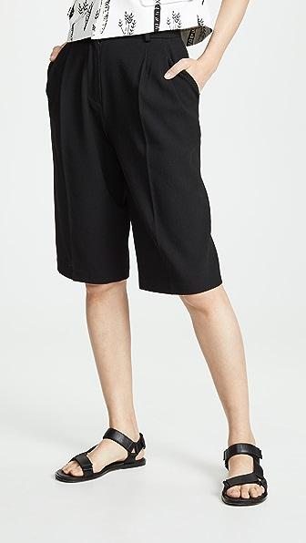 Pushbutton Shorts TROUSER SHORTS