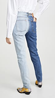pushBUTTON Bi-Color Jeans