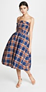 pushBUTTON Creases Tube Dress