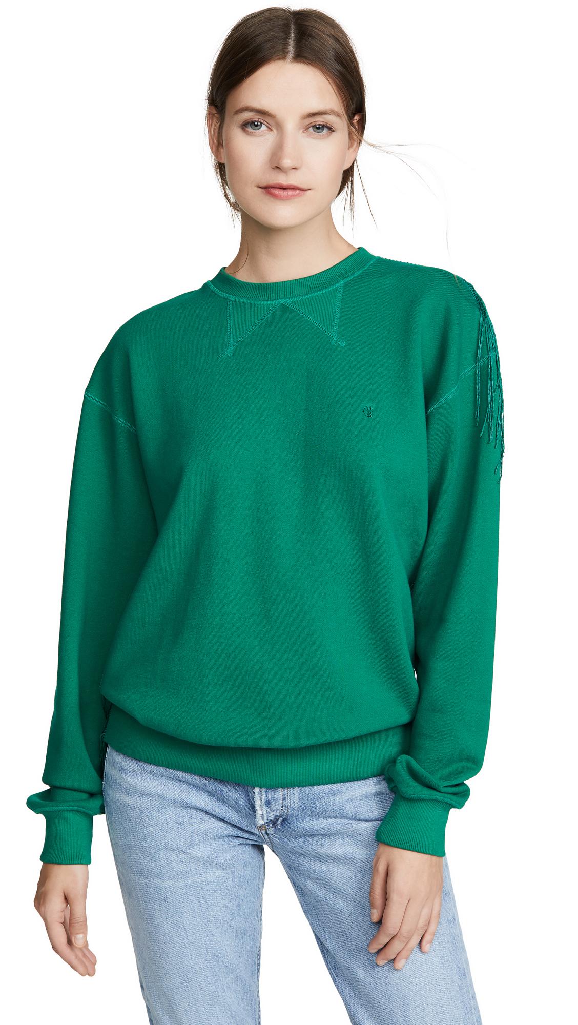 Buy pushBUTTON online - photo of pushBUTTON Fringe Back Sweatshirt